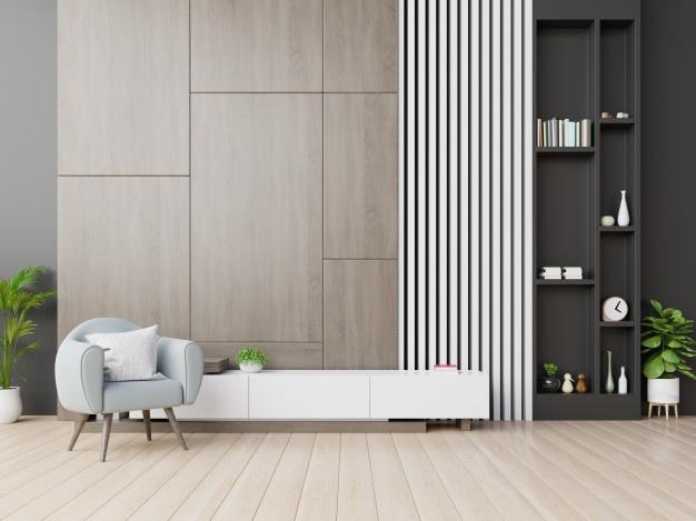 Popoln izkoristek prostora v manjši dnevni sobi
